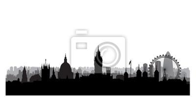 London Stadt Gebäude Silhouette. Britische Stadtlandschaft. London Stadtbild mit Wahrzeichen. Reise Großbritannien Skyline Hintergrund. Urlaub in Europa wallpaper.