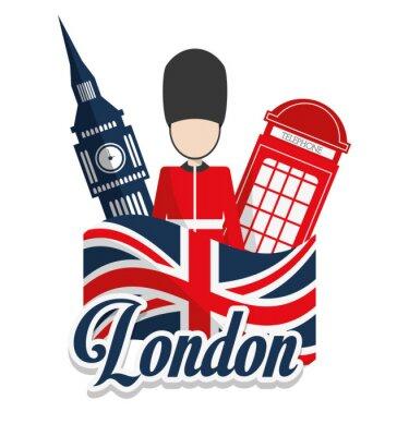 Poster London Wahrzeichen Design