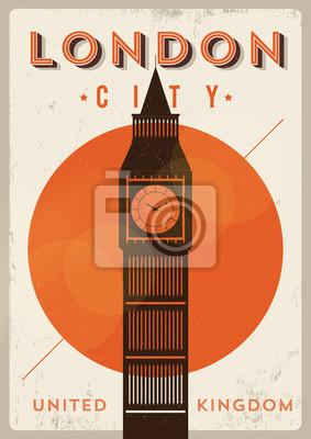 London-Weinlese-Plakat-Entwurf