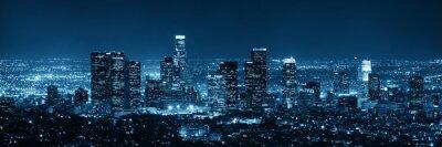 Poster Los Angeles in der Nacht