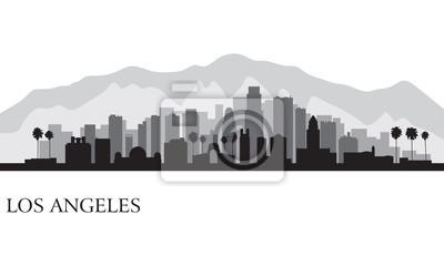 Los Angeles Skyline der Stadt detaillierte Silhouette