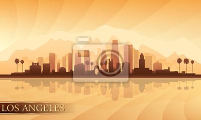Los Angeles Skyline detaillierte Silhouette