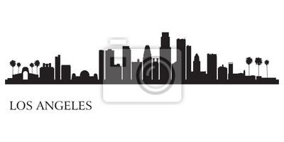Los Angeles Skyline Silhouette Hintergrund