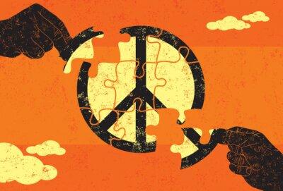 Poster Lösung für den Frieden