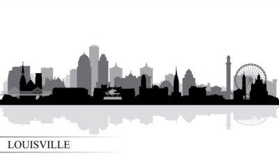 Louisville-Stadtskylineschattenbildhintergrund