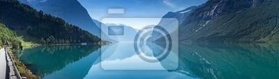 Poster Lovatnet See, Norwegen, Panoramische Ansicht