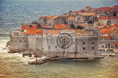 Luftaufnahme der Festung von Dubrovnik, Kroatien
