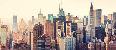 Poster Luftaufnahme der Skyline von New York City