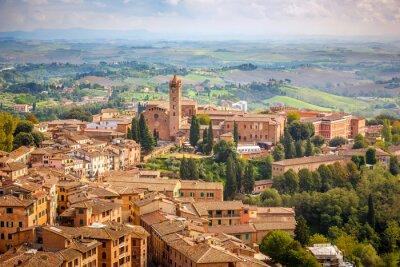 Luftaufnahme über Stadt Siena