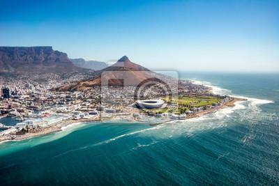 Poster Luftaufnahme von Capetown, SOuth Africa