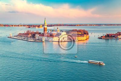 Luftaufnahme von San Giorgio Maggiore Insel, Venedig, Italien
