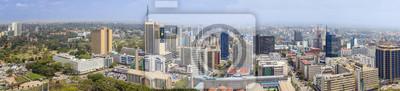Poster Luftbild von Nairobi