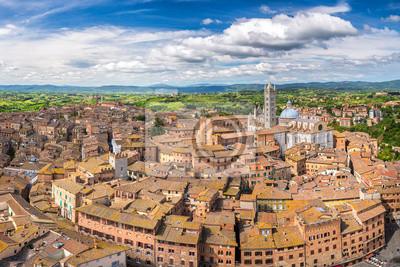 Luftbild von Siena