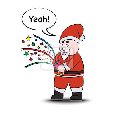 Lustige weihnachtsmann. vector eps22. wandposter • poster claus ...