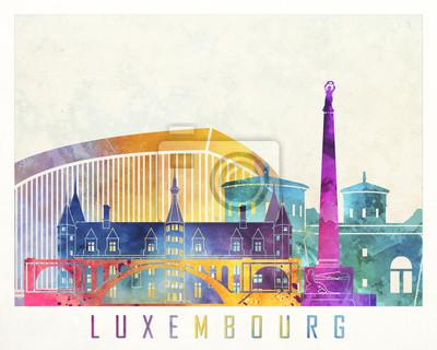 Luxemburg-Markstein-Aquarellplakat