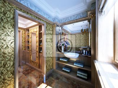 Luxus antike badezimmer - antikes luxus badezimmer wandposter ...