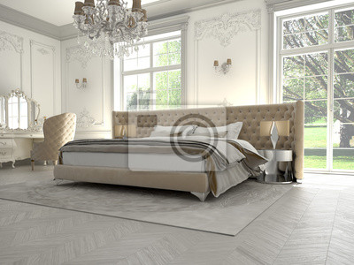 Poster Luxus Schlafzimmer