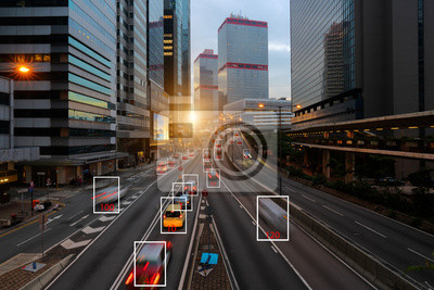Poster Machine Learning and AI to Identify Objects, Image recognition, Suspect Tracking, Speed Limit Radar