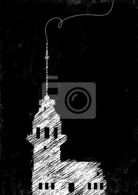 Maiden Tower Zeichnung