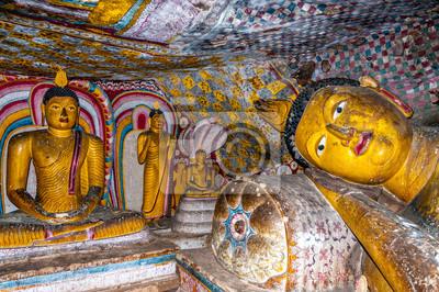 Malerei in Dambulla Höhlen