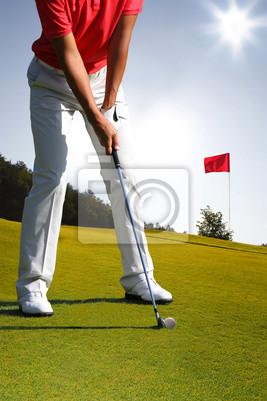 Man spielt Golf