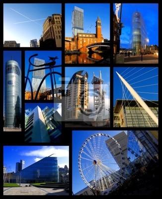 Manchester, das Konzept der Fotos von Stadt, England, UK