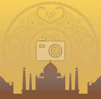 Mandala und Taj Mahal Tapete