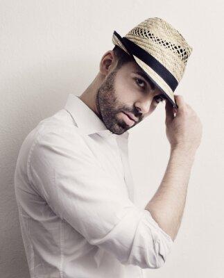 Poster Mann mit Hut