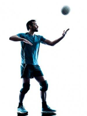 Poster Mann-Volleyball-Silhouette