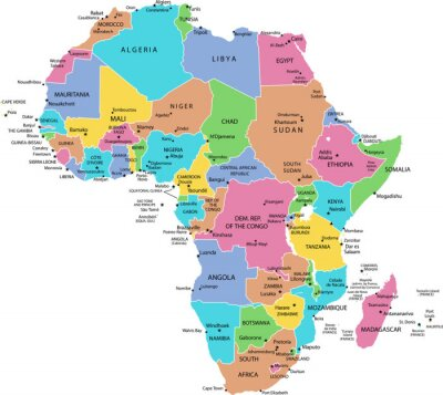 Poster map of Africa