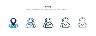 Poster maps icon in different style vector illustration. two colored and black maps vector icons designed in filled, outline, line and stroke style can be used for web, mobile, ui