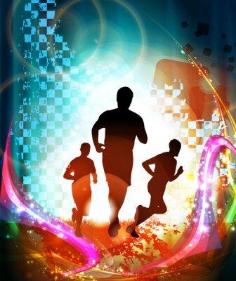 Poster Marathonläufer. Vektor