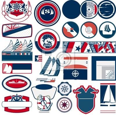 marine und nautischen Vektor-Etiketten