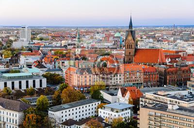 Marktkirche und Zentrum von Hannover, Deutschland