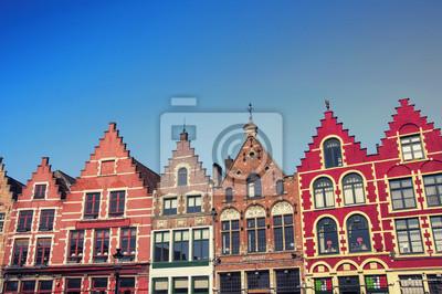 Marktplatz in Brügge, Belgien. Beliebte flämischen Stadt