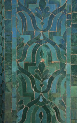 poster marokkanische fliesen muster - Fliesen Mit Muster