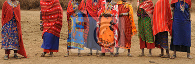 Poster Masai Frauen