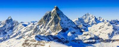 Poster Matterhorn, Schweizer Alpen - Panorama