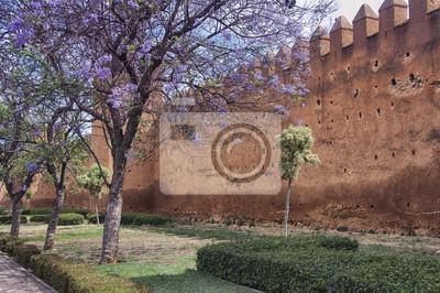Mauern der Altstadt Medina in Rabat, Marokko