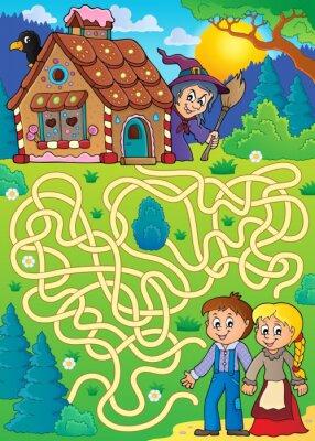 Poster Maze 30 mit Hänsel und Gretel Thema
