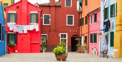 Poster Mediterrane Architektur in Burano, Italien