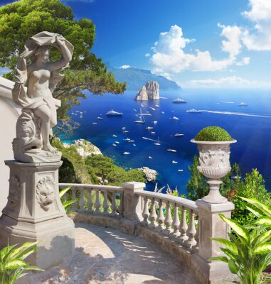 Poster Mediterrane Landschaft