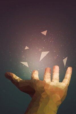 Poster Menschen sind mächtiger als sie denken, Ihre Hand kann heilen oder Objekte in der Luft fliegen lassen