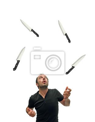 Messer jonglieren