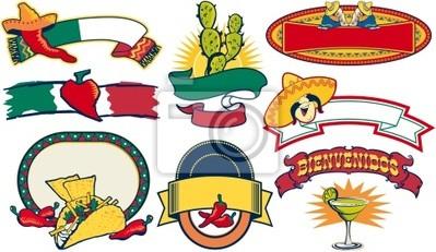 mexikanisches Restaurant Vektor-Elemente
