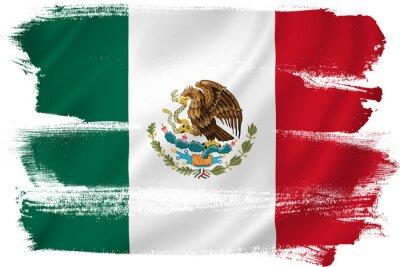Poster Mexiko-Flagge