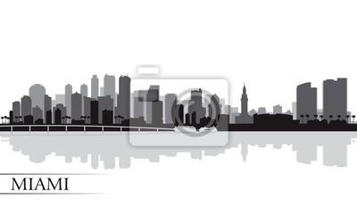 Miami Skyline Silhouette Hintergrund