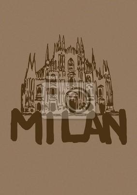 Milan cathedral vintage
