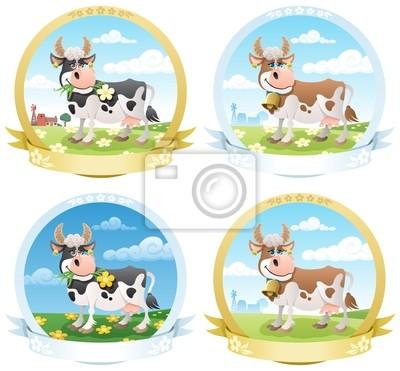 Milchprodukte Labels