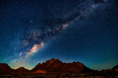 Poster Milchstraße in Namibia